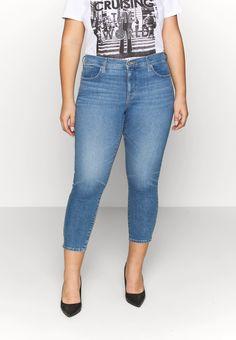 Levi's® Plus 311 SKINNY ANKLE ZIP - Jeans Skinny - new york blue plus - ZALANDO.CH Textiles, Jeans Skinny, Mannequin, Capri Pants, New York, Ankle, Zip, Denim, Blue