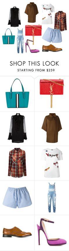"""fashion moto"" by kristen-stewart-2989 on Polyvore featuring Bally, Yves Saint Laurent, Versace, Harris Wharf London, AMIRI, Lilly Sarti, Amen, Church's, Chloe Gosselin and vintage"