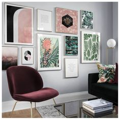 Interior, decoration, photowall, frames, photoframes, styling