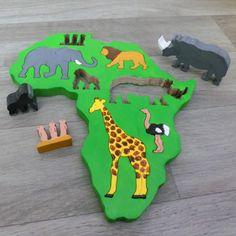 Africká zvířata - vkládačka