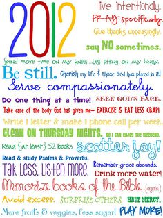 my goals for 2012