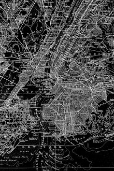 A black and white map of the New York streets make an interesting back drop to your life.