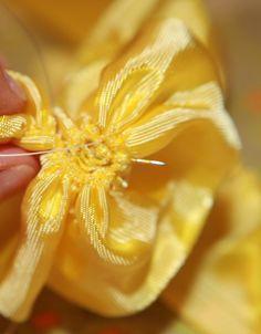 Ribbon Flower Pin Tutorial
