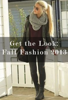 Find out how to recreate the most pinned Fall Looks on Pinterest - leather leggings, oversized jumpers, infinity scarves, riding boots and more