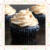 Peanut Butter Surprise Chocolate Cupcakes