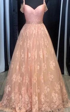 High Low Porm Dresses,Prom Dresses For Teens,Pretty Prom Dresses,Spaghetti Straps Pink Lace Prom Dresses,Girly A-line Prom Gowns,Formal Evening Dresses,Long Prom Dress,Dresses For Teens,Women Dresses