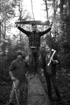 A man in flannel with an axe...can't get much better than that. Best Made Co. photograph by Nate Bressler.