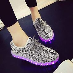24XOmx55S99 Halloween Unisex Kids LED Sneakers Fashion USB Charging Light Shoes for Boys Girls