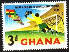 Ghana 1959 - Goalkeeper saving ball by footysphere, via Flickr Stamp