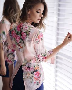 Indian Designer Wear, Blouse Styles, Blouses For Women, Floral Tops, Casual Outfits, Chiffon, Womens Fashion, How To Wear, Clothes