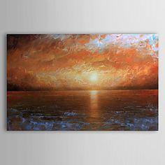 Pintado a mano pintura al óleo del paisaje del mar con el marco de estirado 1306-LS0333 – USD $ 89.99