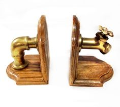 Thinking of finding some old wood book ends and getting Dad to install pipes