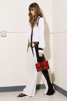$42 Wide Leg Black + White Pants   Thrifted & Modern