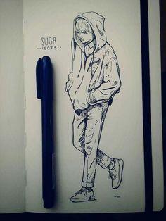Art Sketchbook Aesthetic Simple – Art World 20 Kpop Drawings, Pencil Art Drawings, Art Drawings Sketches, Kpop Fanart, Art Sketchbook, Bts Wallpaper, Drawing Reference, Art Inspo, Anime Art