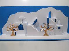 Mediterranean Landscape ORIGINAL DESIGN 3D Pop up von BoldFolds