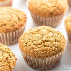 This easy, healthy pumpkin muffins recipe is made with coconut flour and almond flour (or flaxseed meal for nut-free). Low carb, gluten-free, and paleo!
