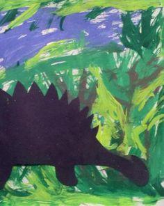 Les 2: Activities: Dinosaur Activity: Stegosaurus Silhouette