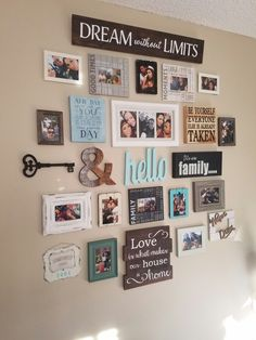 Entry Wall Decor (wall art crafts budget) - Photo wall gallery - Pictures on Wall ideas Wall Decor Pictures, Living Room Pictures, Living Room Picture Ideas, Family Picture Walls, Picture Wall Collage, Living Room Ideas On A Budget, Family Wall Collage, Frame Wall Collage, Decoration Pictures