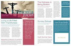 Free Church Newsletter Template Print | newsletter1
