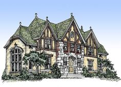 Impressive English Tudor - 11603GC | 2nd Floor Master Suite, Butler Walk-in Pantry, Den-Office-Library-Study, European, Exclusive, MBR Sitting Area, Tudor | Architectural Designs