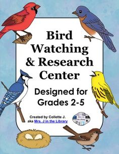 At this library center, students will observe birds at a window birdfeeder or on a web camera live feed such as the Cornell Lab Bird Cams. Using library resources, students will formulate questions to answer and cite. Library Research, Library Skills, Research Skills, Research Centre, Library Lessons, Library Ideas, Inquiry Based Learning, Project Based Learning, Elementary School Library
