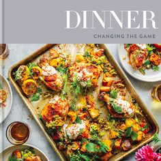 Harissa Chicken with Leeks, Potatoes, and Yogurt by Melissa Clark. Harissa is a North African-style chile paste you can find in many supermarkets. Melissa Clark, 21 Day Fix, Food Network, Seafood Recipes, Dinner Recipes, Dinner Dishes, Vodka Recipes, Chicken Recipes, Oven Recipes