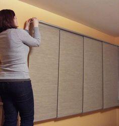 Fantastic instructions for hanging IKEA Kvartal panel curtain & track system