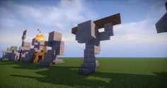 10 - Minecraft small statues for worlds easy to build Minecraft Farmen, Minecraft Temple, Minecraft Kingdom, Minecraft Welten, Minecraft Bridges, Minecraft Statues, Cute Minecraft Houses, Minecraft Houses Blueprints, Minecraft Survival