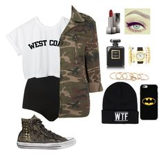 """Sem título #81"" by luhpessoa ❤ liked on Polyvore featuring Topshop, Sally&Circle, Cyrus, Converse, Burberry, Chanel, Charlotte Russe, With Love From CA and Coveroo"
