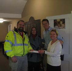 Some folks from Global Performance dropped in on Dec. 22 with a monetary donation to support the youth of CYDC. Pictured are Shane Bailey and Jill Wood of Global Performance. CYDC Community Outreach Coordinator Louis Kines and CYDC Associate VP of Development Kim Brown. #seasonofgiving
