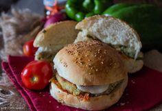 Burger+vegetariano+con+salsa+piccante