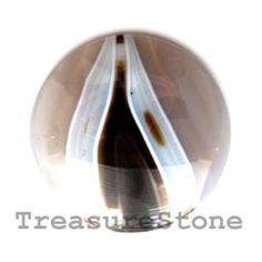 Cabochon, agate, 48mm round. TreasureStone Beads Edmonton