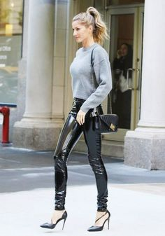 Gisele Bundchen, Celebrity Style, Leather Pants, Model Off-Duty, Street Style, Outfit, Anthony Vaccarello