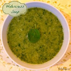 Post image for Recipe: Watercress Soup From Beyond Broth Omit pepper and optional dairy
