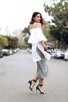 unconventional cut white top