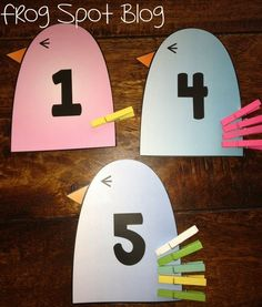 Frog Spot: Pin the Tail on the Bird--This is an adorable, easy and FREE center to practice counting! I love this so much!
