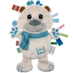 Buy online Label Label Polar Bear Friends Comfort Blankie at best prices at Lyallway. Right choice for Online Shopping for Label Label products, friendly custo Tag Blanket, Baby Security Blanket, Quilt Baby, Polar Bear, Teddy Bear, Kids Toys Online, Baby Gifts To Make, Dou Dou, Sensory Blanket