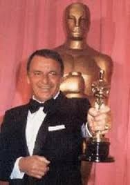 "A proud Frank Sinatra finally winning his ""Oscar"" for his role in ""From Here to Eternity"". He was still singing back then...The Best is Yet To Come...undated."