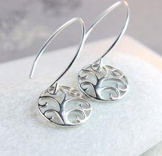 Tree Of  Life   Earrings    Sterling Silver    Metal  by Hildes