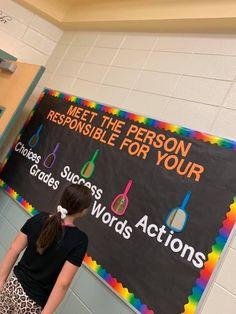 My new bulletin board. Classroom Bulletin Boards, Classroom Decor, Bulletin Board Ideas For Teachers, Preschool Bulletin, Jesus Bulletin Boards, Counselor Bulletin Boards, Kindness Bulletin Board, Future Classroom, School Classroom