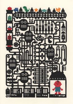 How to make me Paper cutting art by chihiro takeuchi.