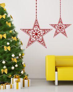 Holiday Stars wall decal by WALLTAT.com