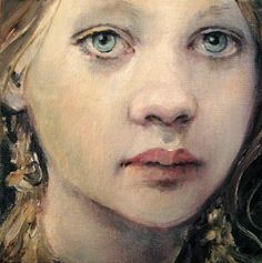 "MOONGLANCE Original Oil OOAK 4""x4""on canvas panel Small Portrait | eBay"