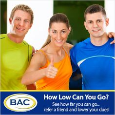 Refer your friends and lower your dues at Beverly Athletic Club