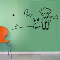 Livraison gratuite petit prince renard sticker mural chambre d'enfant décoration murale art papier peint en