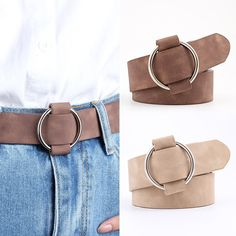 0ad6776b0 New Fashion womens designer round casual ladies belts for jeans Modeling  belts without buckles leather belt