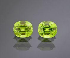 Stunning Peridot Match Set of Gemstones from Burma by KosnarGemCo