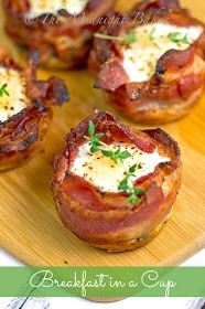 Bacon bowl breakfast cups !