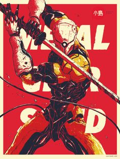 Gray Fox from Metal Gear Solid -Will Hack And Slash, Gray Fox Metal Gear, Metal Gear Solid Series, Ash Thorp, Videogames, Metal Gear Rising, Grey Fox, Pokemon, Fox Print