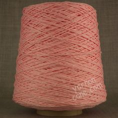 Soft Italian double knitting DK cotton yarn on cone - baby pink
